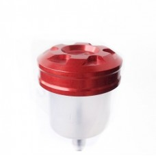 SRT brake fluid reservoir made of plastic and Ergal stopper machined from solid