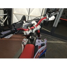 Handlebar in ergal fold high 22/28 mm SRT for off-road and Enduro motorcycles