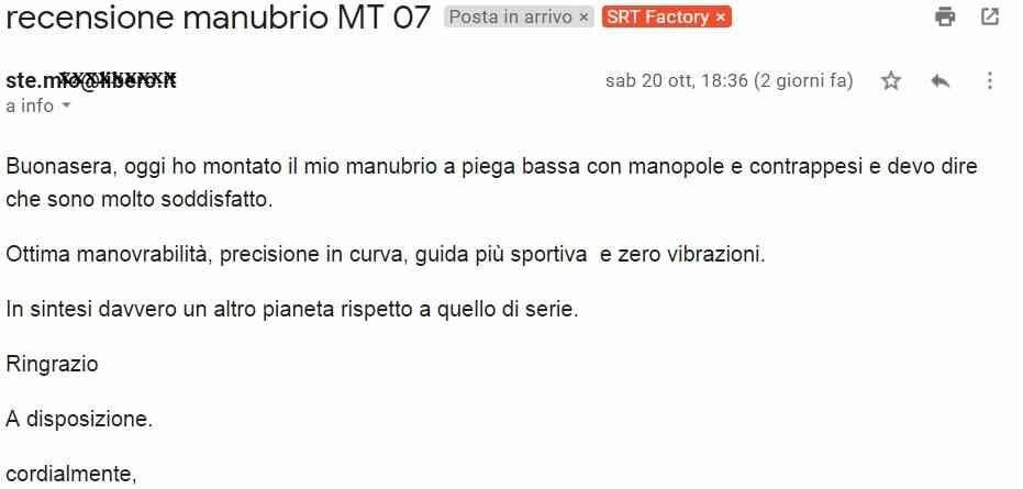 miglior manubrio MT07